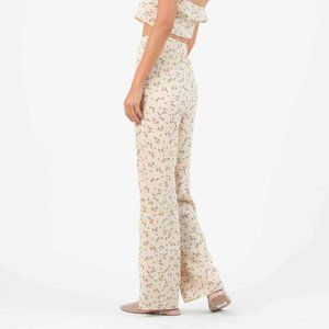 LUCCA COUTURE Iris Palazzo Tan Floral Print Pants